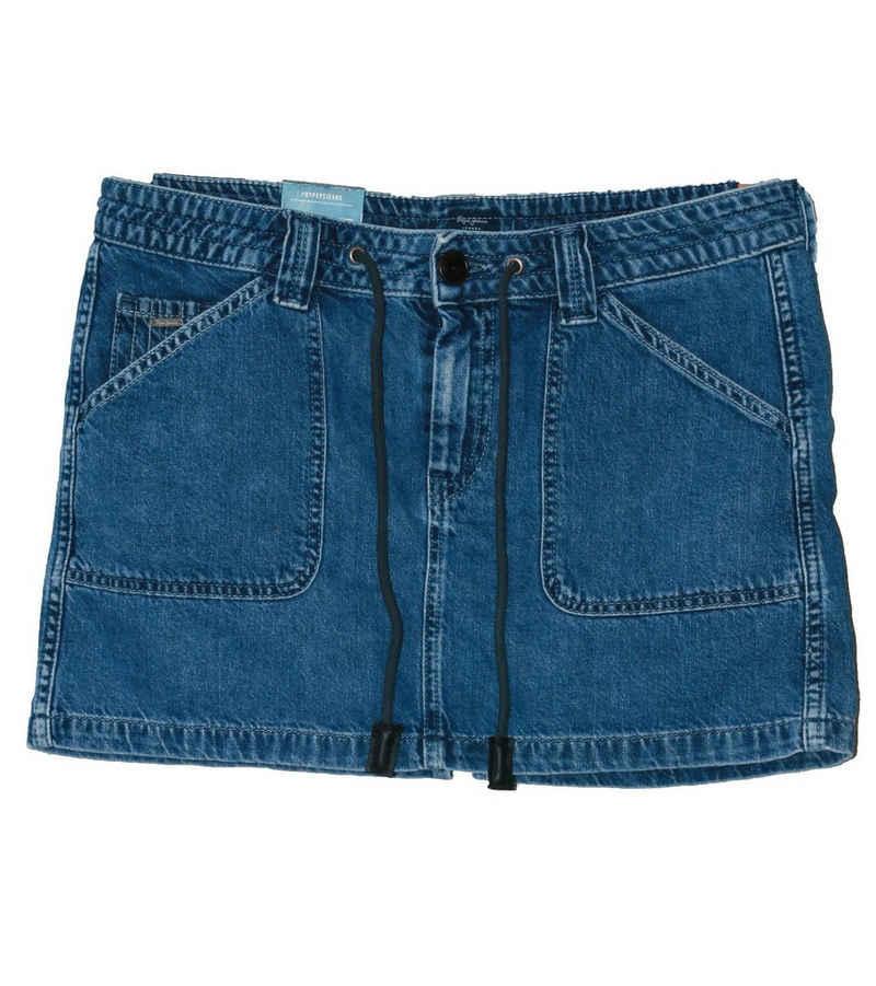 Pepe Jeans Minirock »Pepe Jeans Iris Jeans-Rock schicker Damen Mini-Rock Denim-Rock Blau«
