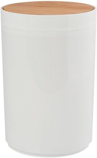 MSV Kosmetikeimer »OSLO Design«, Schwingdeckeleimer, Bambus, ØxH: ca. 18x26,3 cm, 5 L