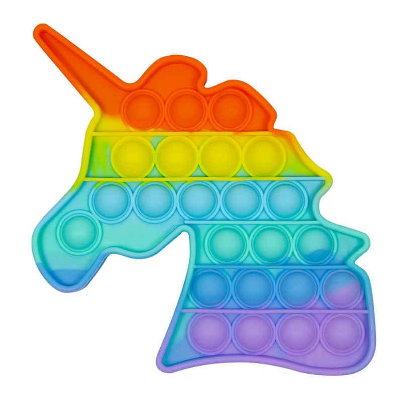 C&T Spiel, »Regenbogen Einhorn - Pop It Bubble Push Plop Up Fidget - Anti-Stress Spiel«