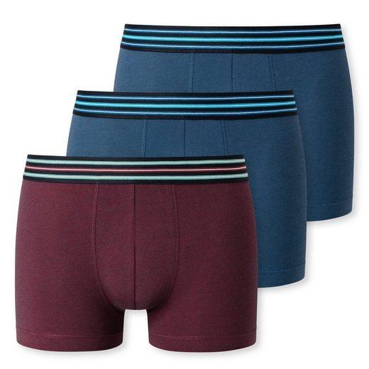 Schiesser Retro Pants »3er Pack Basic Shorts Pants« Körpernaher Schnitt, Gestreifter Webgummi-Bund, Im praktischen Vorteilspack