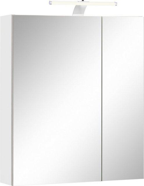Spiegel - Schildmeyer Spiegelschrank »Lagona« Breite 60 cm, mit LED Beleuchtung und Steckdose, verstellbare Einlegeböden aus Glas  - Onlineshop OTTO