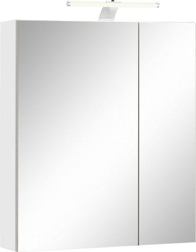 Schildmeyer Spiegelschrank »Lagona« Breite 60 cm, 2-türig, LED-Beleuchtung, Schalter-/Steckdosenbox, Glaseinlegeböden, Made in Germany