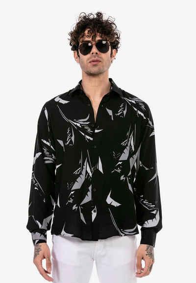 RedBridge Langarmhemd »Milton« mit sommerlichem Muster