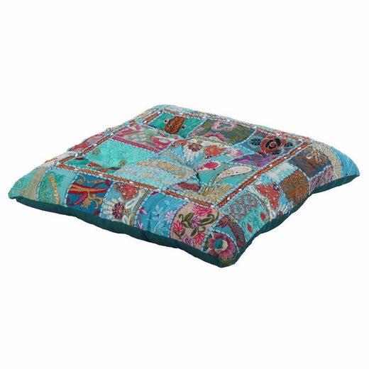 Casa Moro Sitzkissen »Orientalisches XXL Patchwork Sitzkissen Manju 55x55 cm x Höhe 10cm quadratisch mit Füllung, Indisches Yogakissen Couchkissen Zierkissen Boho Style, «, MA2203