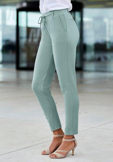 LASCANA Jogger Pants (1-tlg) mit elastischem Bund und Gürtelschlaufen