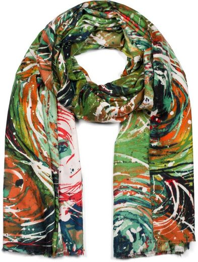 styleBREAKER Schal »Schal mit buntem Wirbel Muster« Schal mit buntem Wirbel Muster