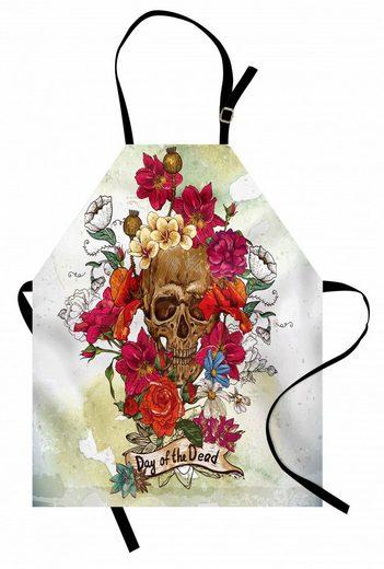 Abakuhaus Kochschürze »Höhenverstellbar Klare Farben ohne verblassen«, Schädel Dead Flowers Spanien