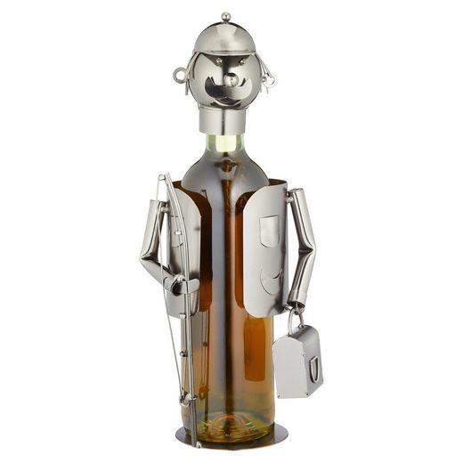 HTI-Living Weinflaschenhalter »Weinflaschenhalter Angler«, (1-St)