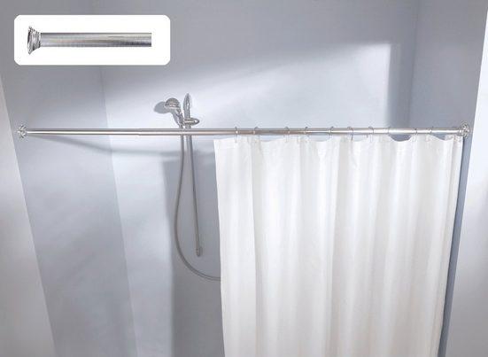 Duschvorhangstange »Federstange«, Kleine Wolke, Ø 22 mm, ausziehbar, kürzbar, hochwertige Federstange mit Struktur, Länge 125-220 cm