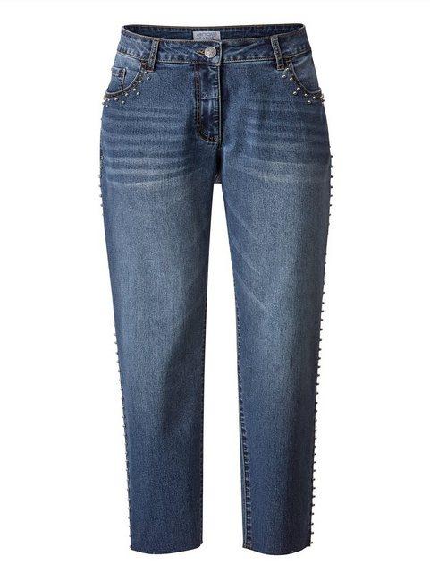 Hosen - Angel of Style by HAPPYsize Slim fit Jeans mit Nieten ›  - Onlineshop OTTO