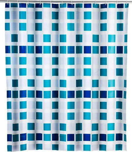 WENKO Duschvorhang »Mosaik« Breite 180 cm, Höhe 200 cm, inklusive Vorhangsringe