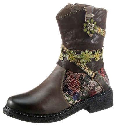 LAURA VITA »IDCITEO« Cowboy Stiefelette mit schöner Schaftverzierung