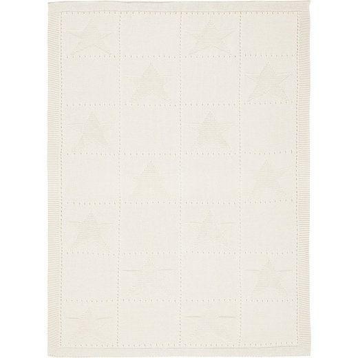 Kinderdecke »Strickdecke Karo grau 75 x 100 cm«, Alvi®