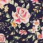 larissastoffe Stoff »Jersey Stoff Blumen Rosen, Swafing Jonne dunkelbla«, Stoffe zum Nähen, Meterware, 50 cm x volle Breite, Bild 3