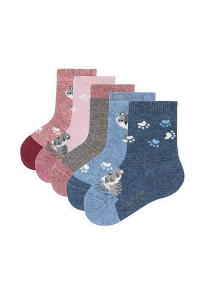 Camano Socken »ca-soft mit Bio-Baumwolle Katzen« (5-Paar) mit niedlichen Motiven