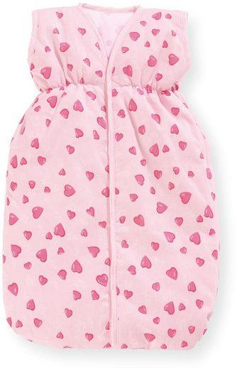 Pinolino® Puppen Schlafsack »Herzchen, rosa«