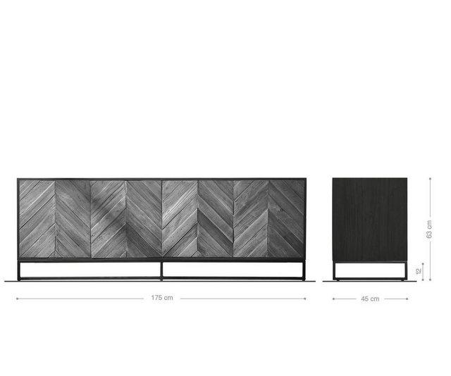 TV Möbel - DELIFE TV Board »Famke«, 175x45x63 cm Exotic Wood Fishbone  - Onlineshop OTTO