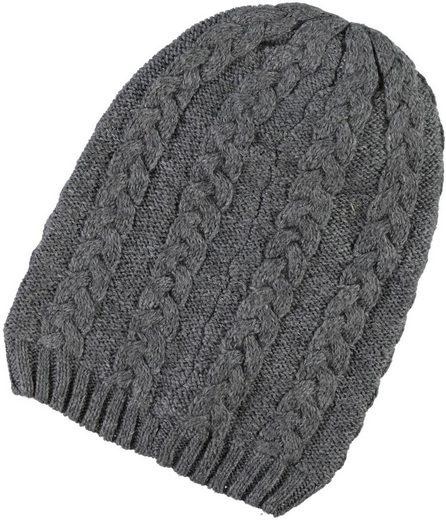Name It Strickmütze Wintermütze mit Wolle grey melange Meflex