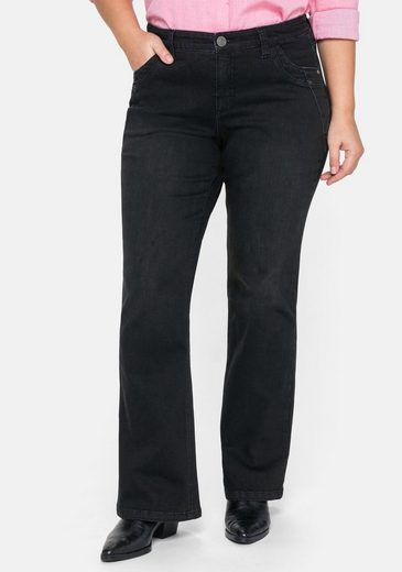 Sheego Bootcut-Jeans Stretch MAILA ultraflexibel