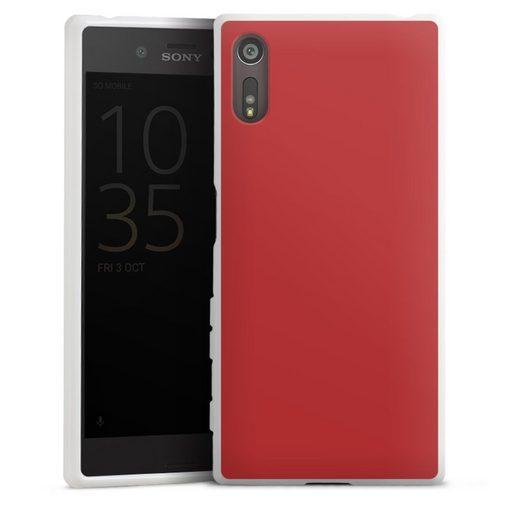 DeinDesign Handyhülle »Karminrot« Sony Xperia XZs, Hülle Rot einfarbig Farbe