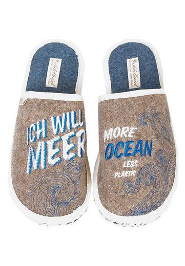ADELHEID »Ocean GO GREEN Filzpantoffel« Pantoffel