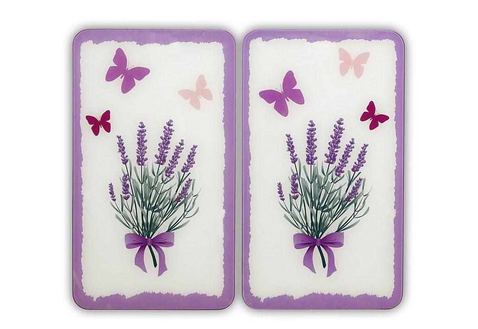 SET: Herd-Abdeckplatten, Wenko, »Lavendel-Bouquet« (2 Stck.)