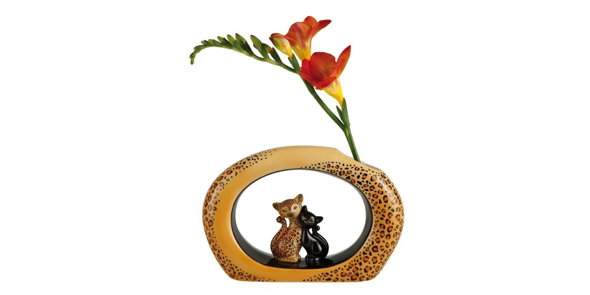 """Goebel Vase """"Leopard"""" »Kitty de luxe«"""