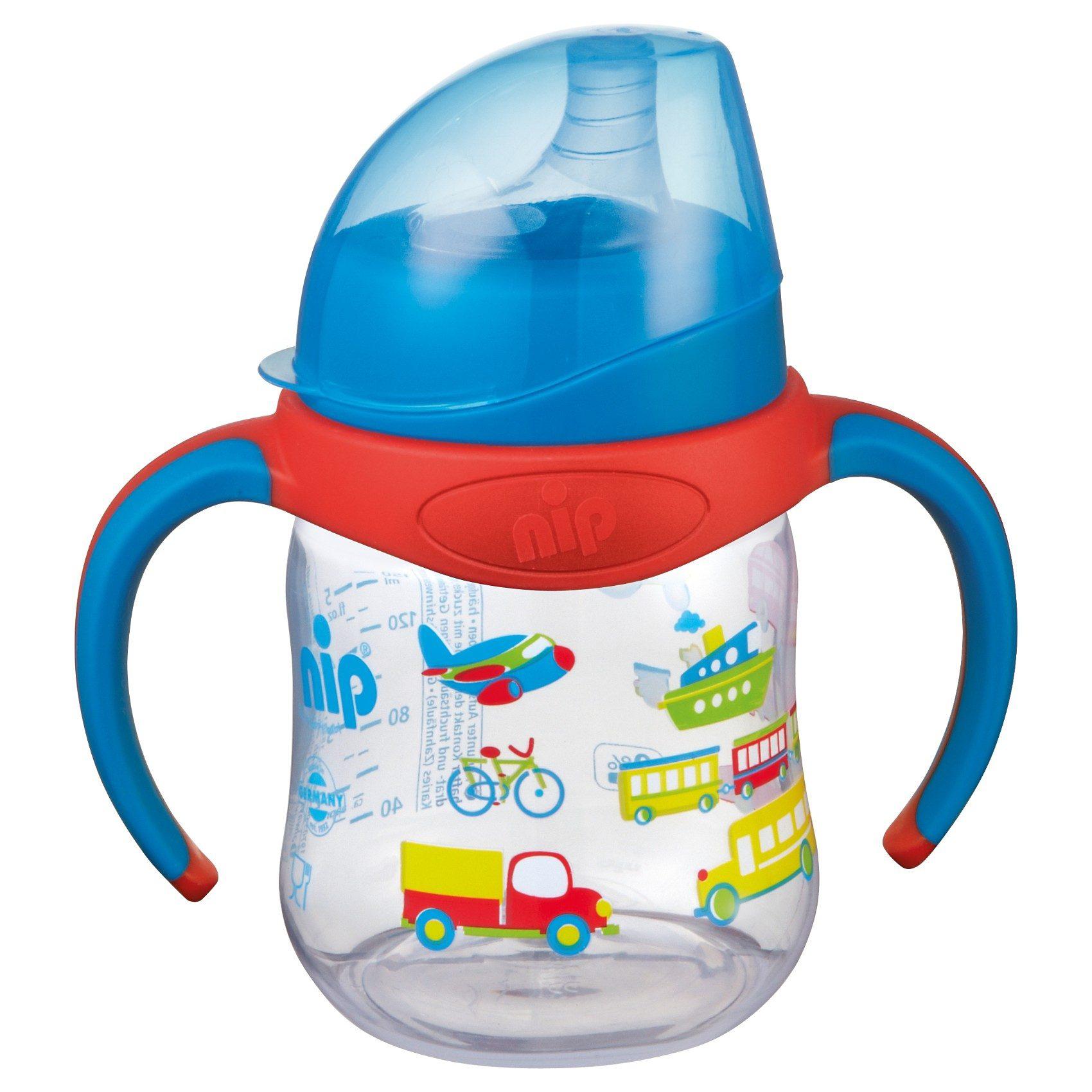 Nip Trinklernflasche, PP, 150 ml, Silikon-Trinktülle, blau