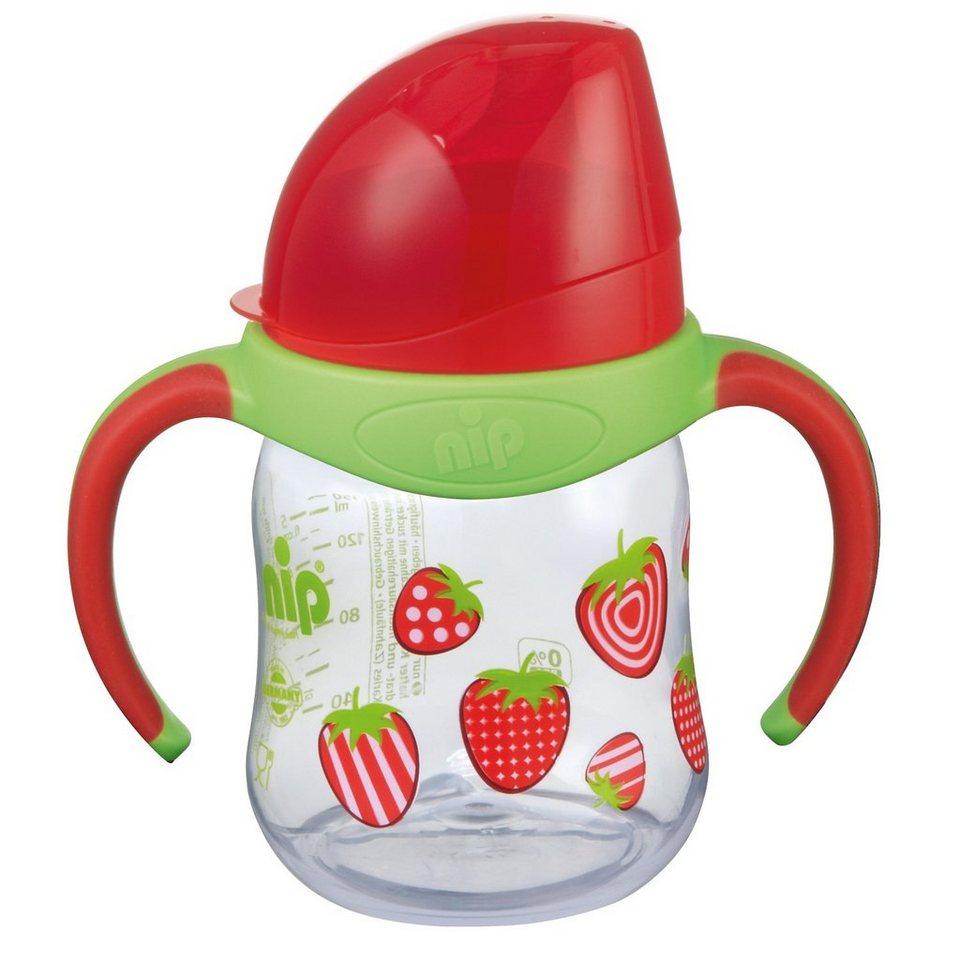 Nip Trinklernflasche, PP, 150 ml, Silikon-Trinktülle, rot in rot