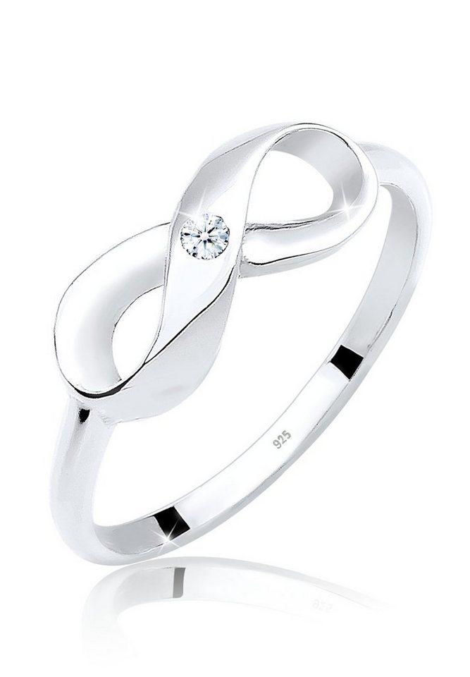Diamore Ring »Infinity Unendlichkeit Diamant 0.03 ct. 925 Silber« in Weiß
