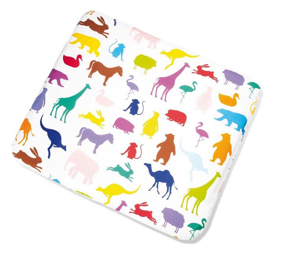 Pinolino Bezug für Wickelauflage Happy Zoo, für 85 x 75 cm