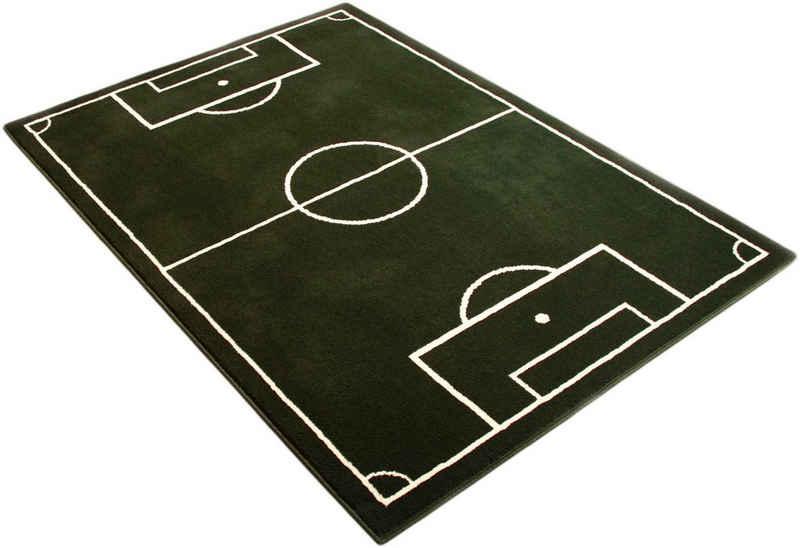 Kinderteppich »Fussballplatz«, HANSE Home, rechteckig, Höhe 9 mm, Fußball, Spielteppich