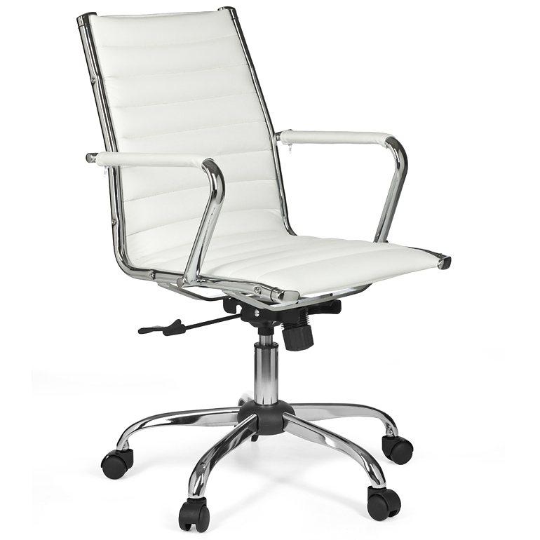 SalesFever Schreibtischstuhl aus Kunstleder »Monex 2« in weiß