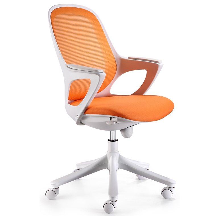 SalesFever Schreibtischstuhl aus Stoff bis 150kg »Severo« in orange / weiß