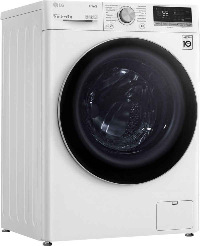 LG Waschmaschine F4WV409S1B, 9 kg, 1400 U/min