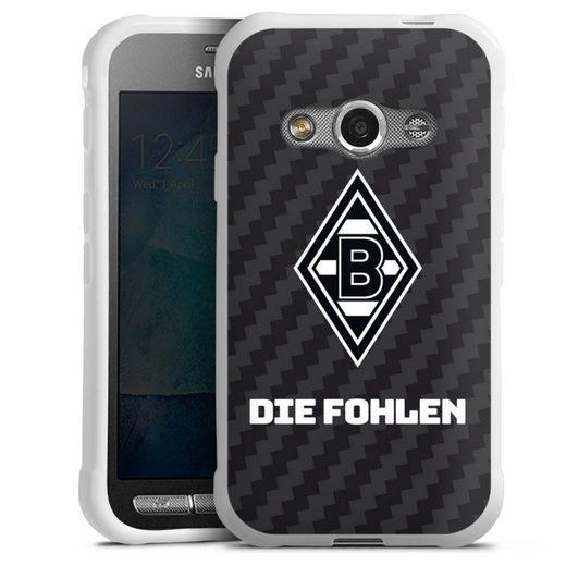 DeinDesign Handyhülle »Die Fohlen Carbon« Samsung Galaxy Xcover 3, Hülle Borussia Mönchengladbach Carbon Gladbach