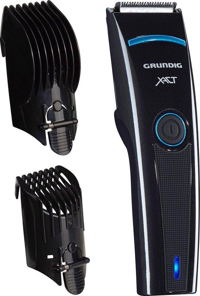 Grundig, Haar- und Bartschneider, MC 3340, Akku/Netz in hochglanzschwarz/blau