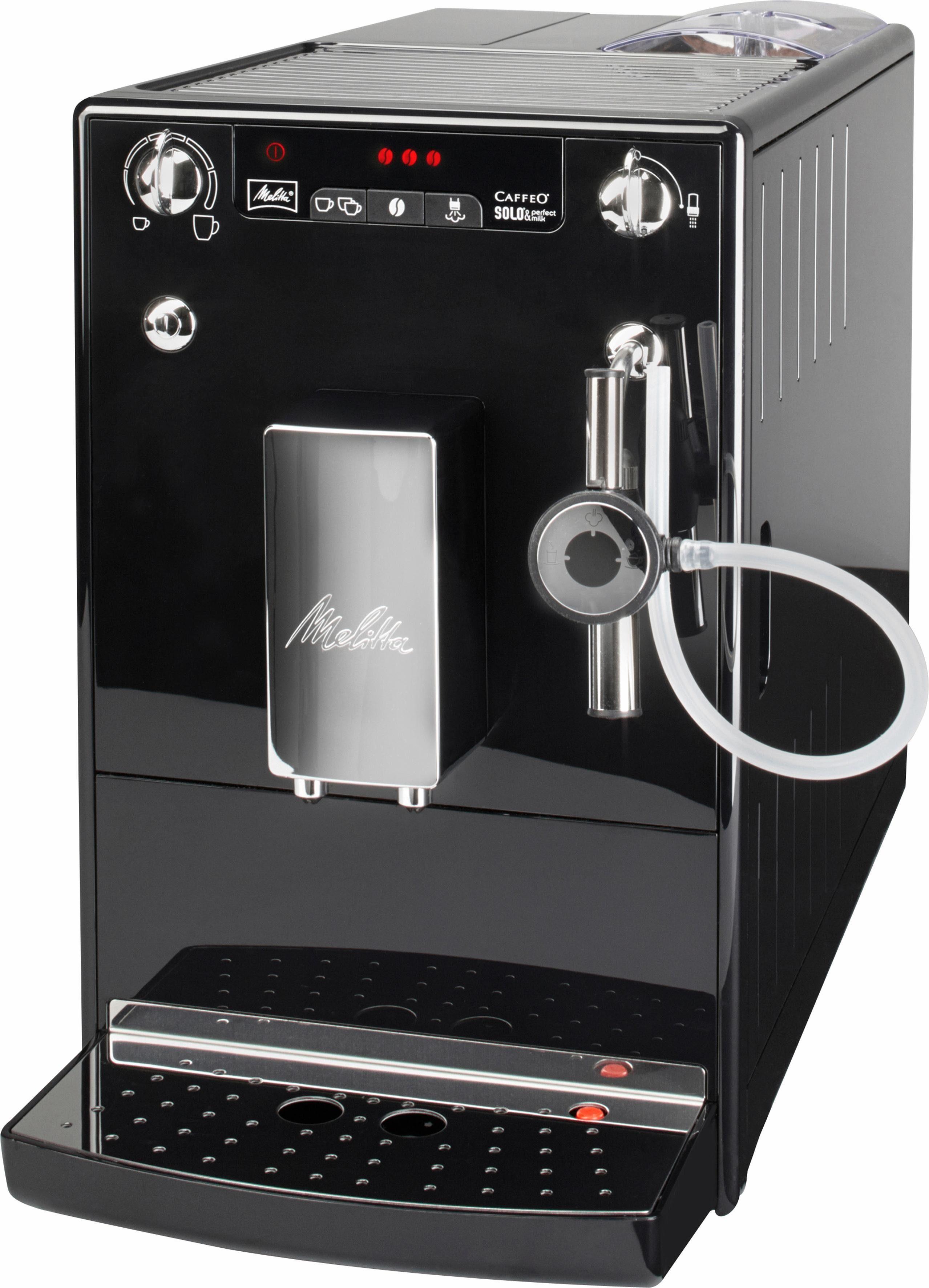 Melitta Kaffeevollautomat CAFFEO® Solo® & Perfect Milk E 957-101, 1,2l Tank, Kegelmahlwerk, nur 20 cm breit