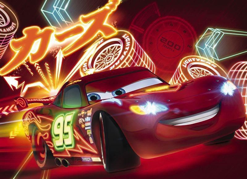 Fototapete, Komar, »Cars Neon«, 254/184 cm in bunt