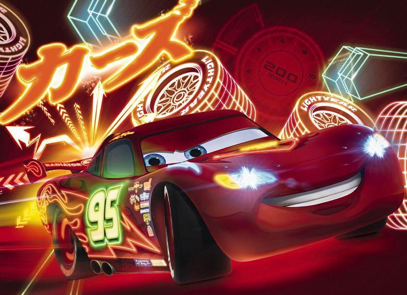 Fototapete, Komar, »Cars Neon«, 254/184 cm