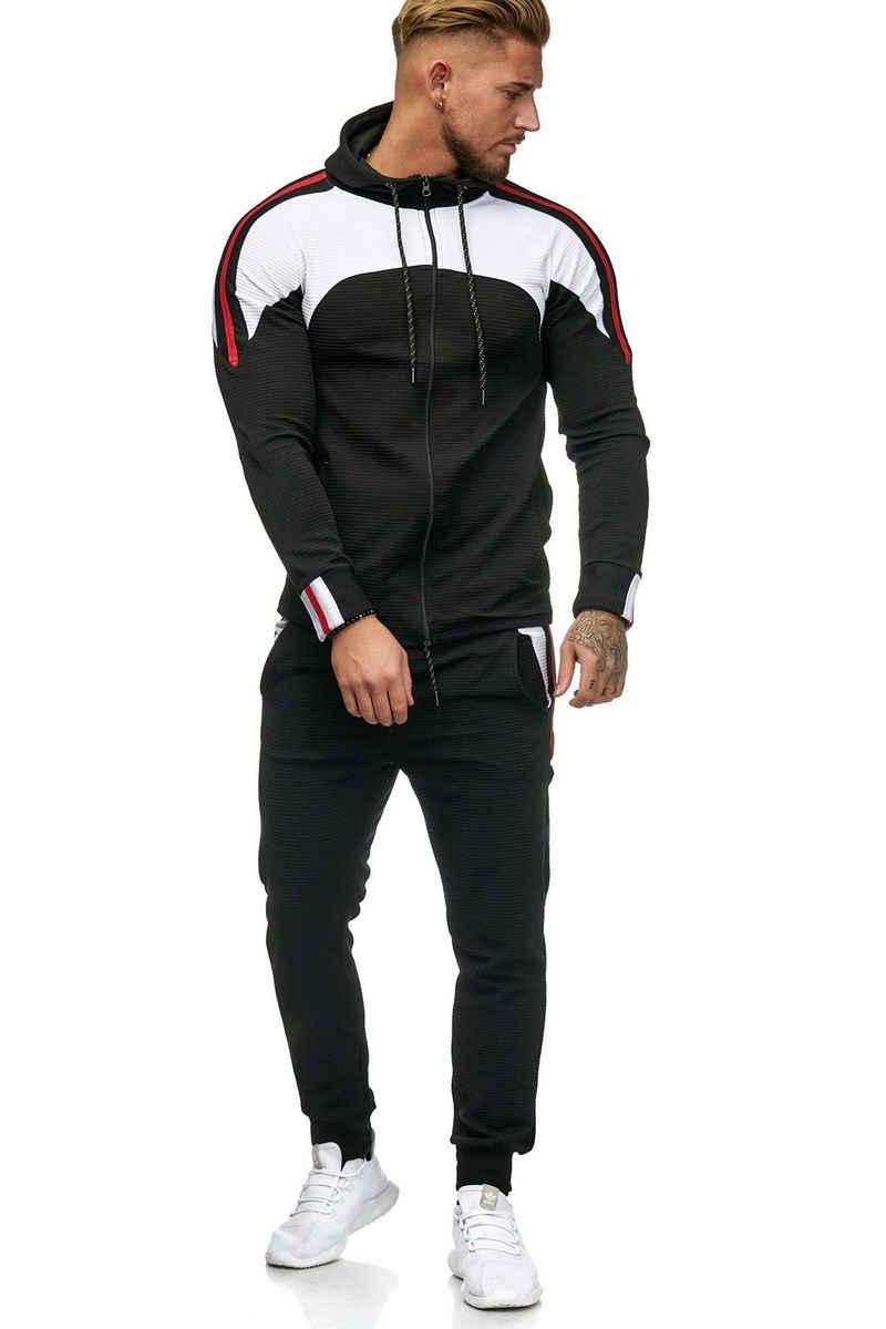 OneRedox Jogginganzug »1148C« (Sportanzug Jogger Trainingsanzug, im modischem Design), Fitness Freizeit Casual
