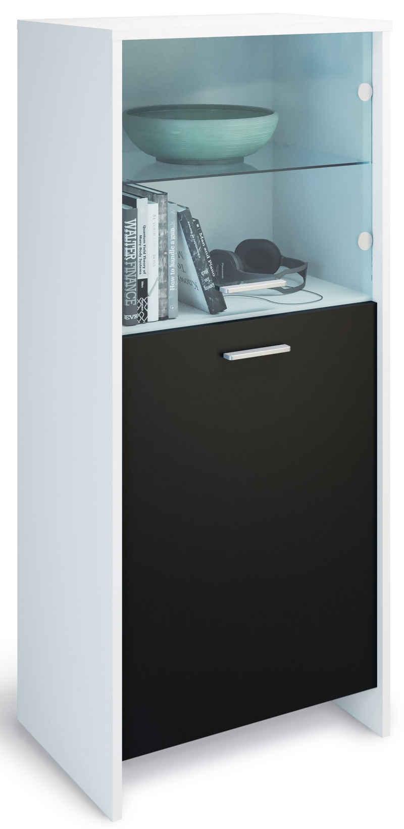 Domando Standvitrine »Vitrine Matera« (1-St) Breite 53cm, Tür mit Soft-Close