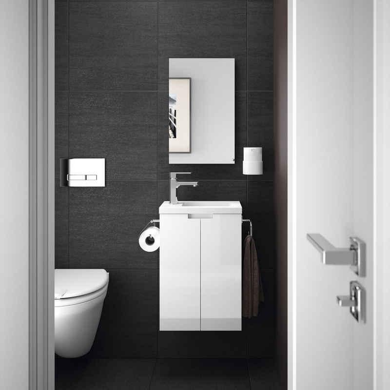 Allibert Badmöbel-Set »Closy Pack«, (3-St), bestehend aus Waschplatz und Spiegel, Breite 40 cm, Inklusive Papierhalter und Handtuchring