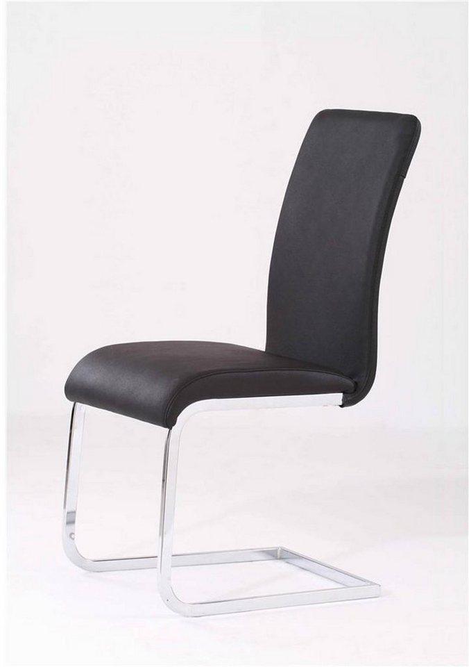 Kasper Wohndesign 4er Set Stuhl Freischwinger Leder Schwarz Dekora Online Kaufen Otto