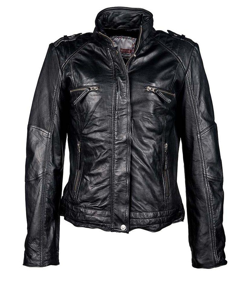 Mustang Lederjacke, Damen »Taimy« in schwarz