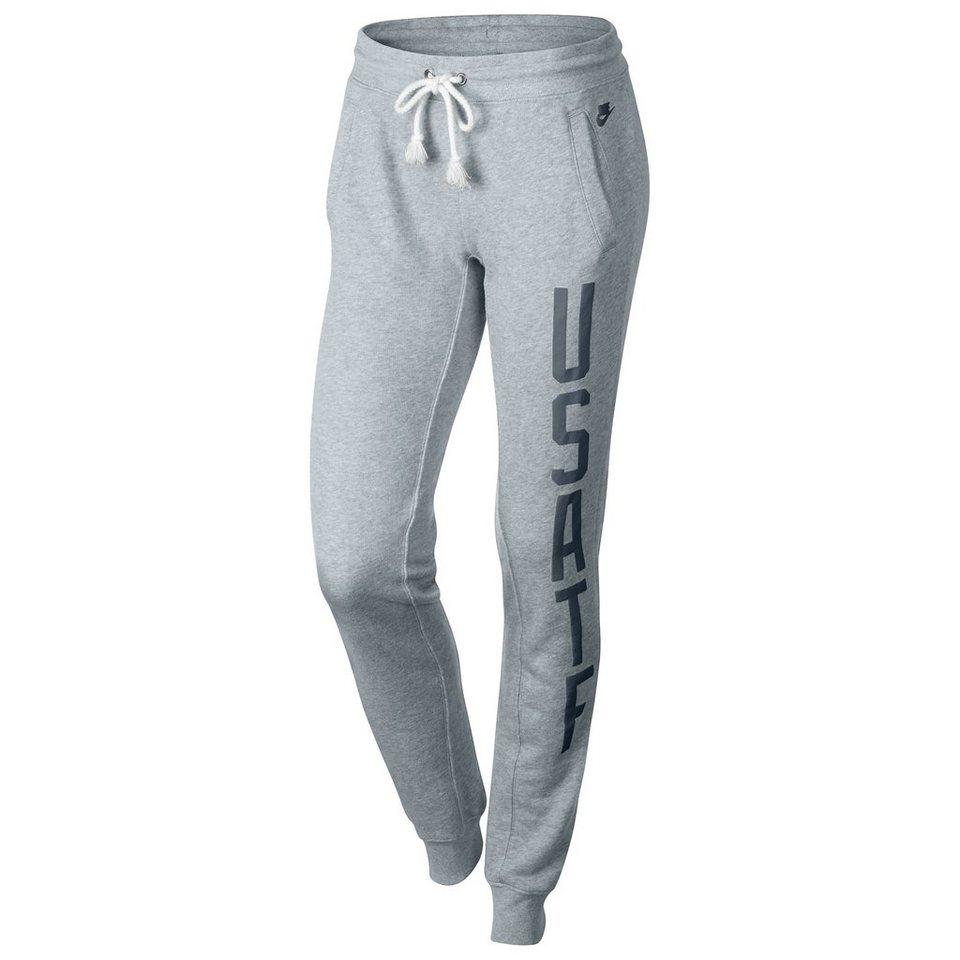Nike Sportswear RU USATF Fleece Trainingshose Damen in hellgrau / blau