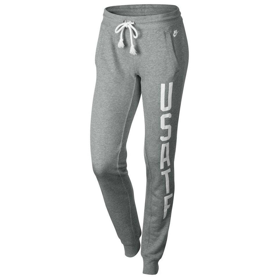 Nike Sportswear RU USATF Fleece Trainingshose Damen in dunkelgrau / weiß