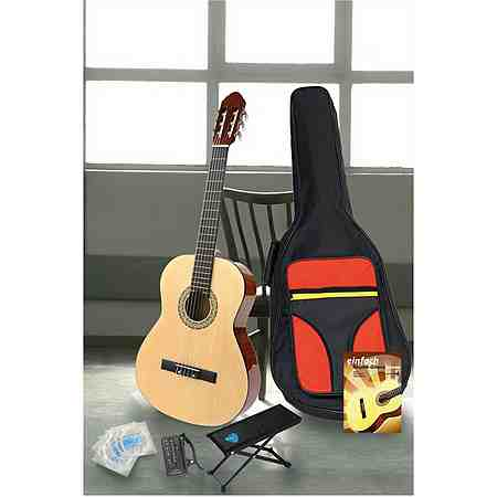 Konzertgitarren - Set 4/4 Zoll, Farbe natur