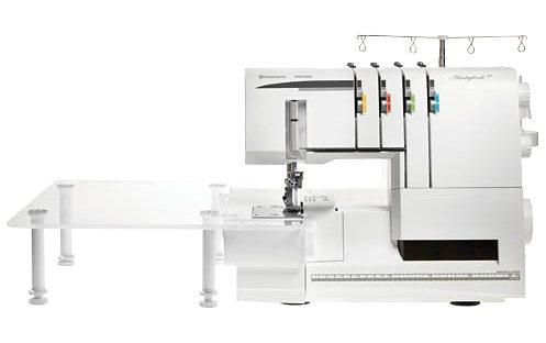 Husqvarna Viking Overlock-Nähmaschine Huskylock s21, 21 Nähprogramme, extra großer Anschiebetisch in weiß