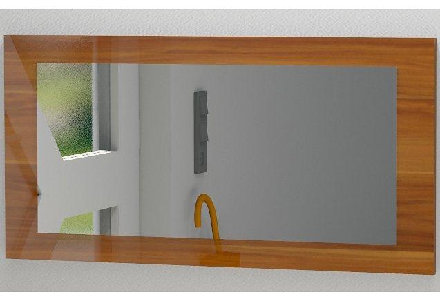 Spiegel »Lathi« in nussbaumfarben